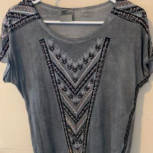 Small Vocal grey sparkly T-shirt